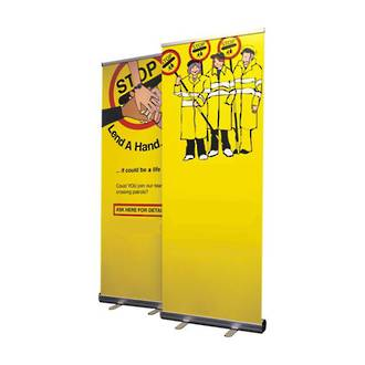 Roll Up Banner Stand, Adjustable Height, 850 x 2000mm