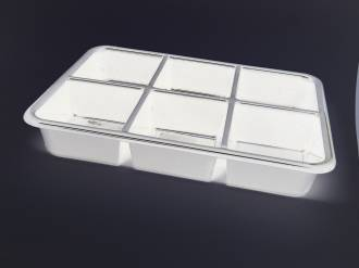 (Tray-008-ABSW) Tray 008 White