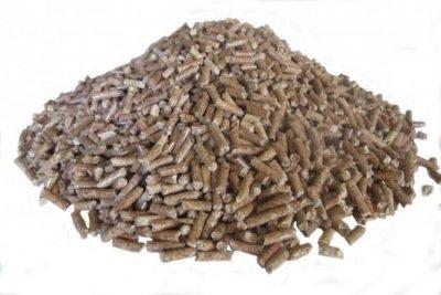 pellets in pile