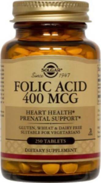 SOLGAR Folic Acid Capsules 250 Tablets
