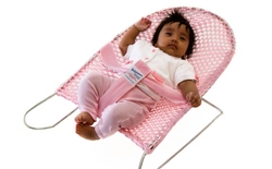 babybounce pink bouncinette