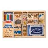 Melissa & Doug Wooden Animals Stamp Set