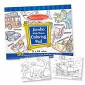 Melissa & Doug Jumbo Multi-Theme Colouring Pad - Blue