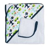 JJ Cole Hooded Towel White Vroom