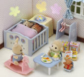 Sylvanian Families Nightlight Nursery Bedroom Set