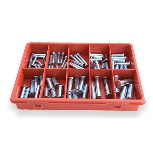 ASSORTMENT CLEVIS PIN TRADE PACK 72pc