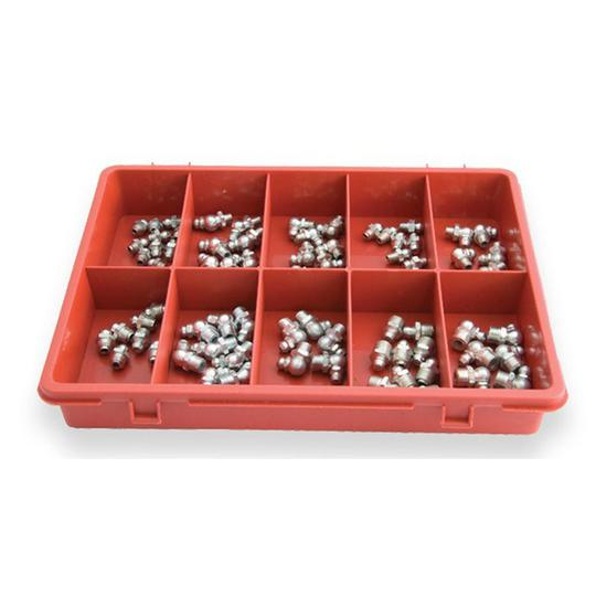 ASSORTMENT GREASE NIPPLE TRADE PACK 80pc