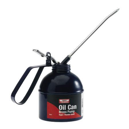 OIL CAN 200ml BRASS PUMP TOLEDO