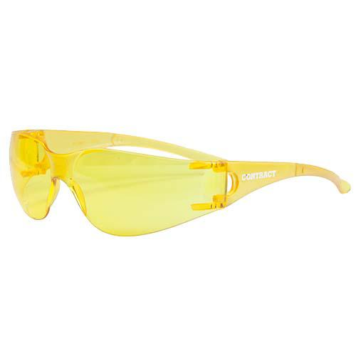 SAFETY GLASSES CONTRACT AMBER