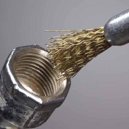 BRUSH WIRE END 25mm x 1/4 COATED STEEL