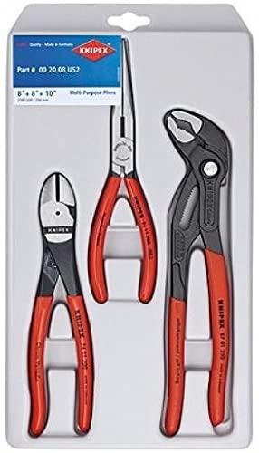 PLIER SET 3pc IN TRAY KNIPEX