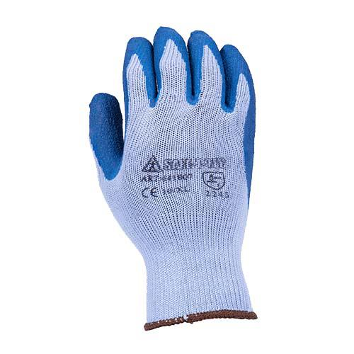 GLOVES BLUE LATEX DIPPED LARGE SAFE-T-TEC
