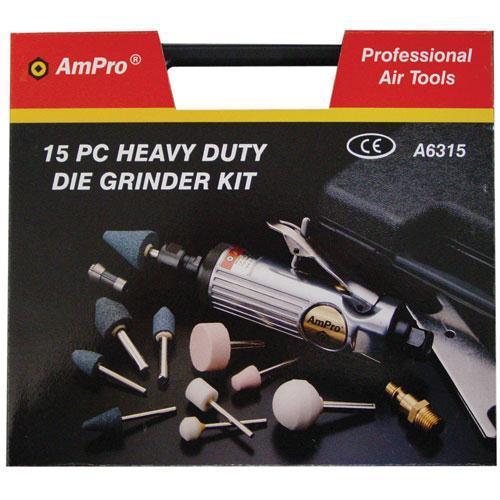 """AIR DIE GRINDER KIT 1/4"""" AMPRO"""