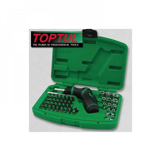 SCREWDRIVER SOCKET & BIT SET 54pc TOPTUL