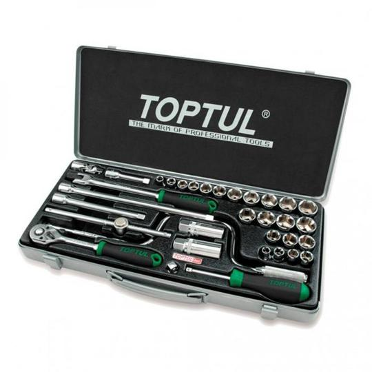 SOCKET SET 3/8 34pc COMB TOPTUL