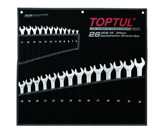 WRENCH R&OE SET 6-32mm 26pc TOPTUL