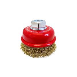 BRUSH CUP CRIMPED 75mm BRASS CABLE JOSCO