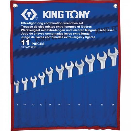 WRENCH R&OE SET XTRA LONG 8-24mm KING TONY