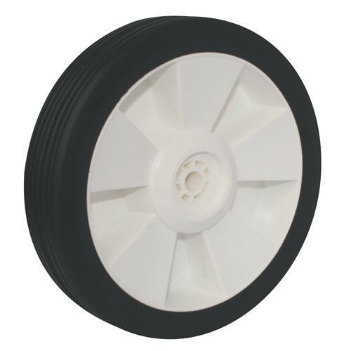 WHEEL 200mm PLASTIC CENTRE RUBBER 1/2 BORE