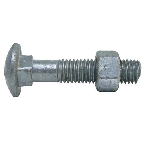 COACH BOLT & NUT M8 x 55 GALV
