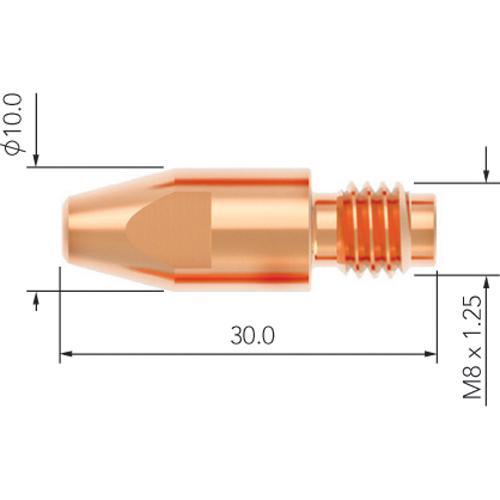 WELDING MIG TIP M8 x 1.2mm SB36 5pk