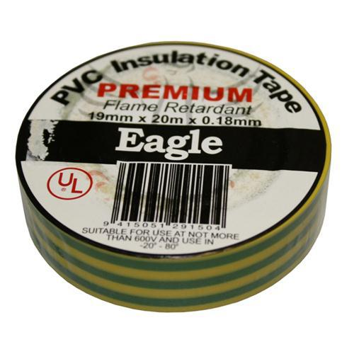INSULATION TAPE 19mm YEL/GREEN EAGLE