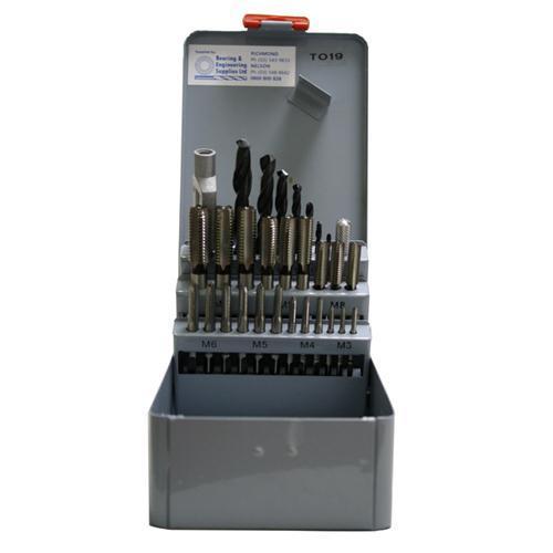 TAP & DRILL SET METRIC HSS 14pc M3-M12