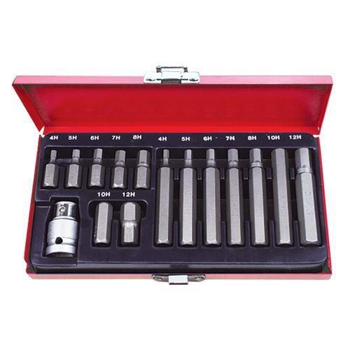 "SOCKET SET INHEX 1/2"" I15pc 30mm AMP"