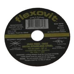 DISC C/O 115 x 2.5 FLEXOVIT INOX