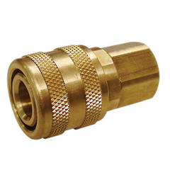AIR COUPLER 1/4 BSP ARO BRASS CARDED