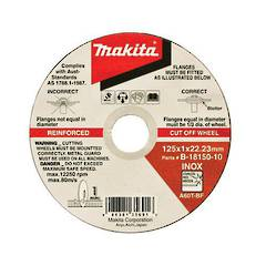 DISC C/O 125x1 MAKITA INOX 100p