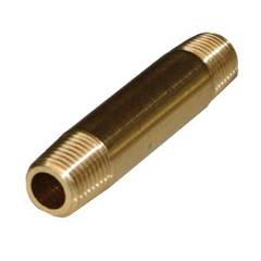 LONG NIPPLE 1/4 x 3.0 BRASS