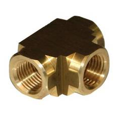 TEE FEMALE 1/8 BRASS
