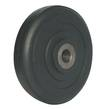 WHEEL 100mm SOLID RUBBER CAST CENTRE