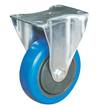 CASTOR 100mm BLUE RUBBER FIXED