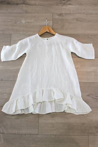 Madeline Cream Linen Dress 4-6 years