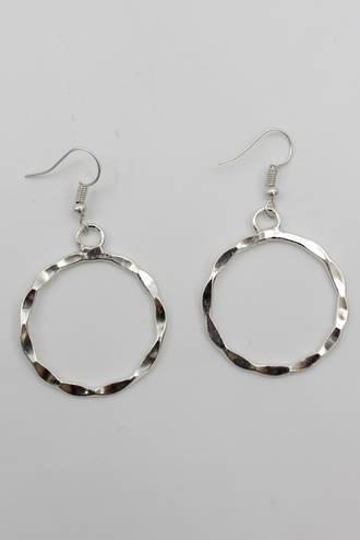 Millie Loop Earrings Silver