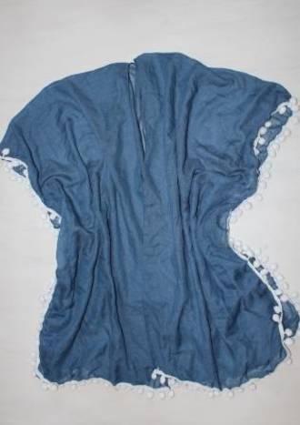 Pom Pom Sky Blue Kimono