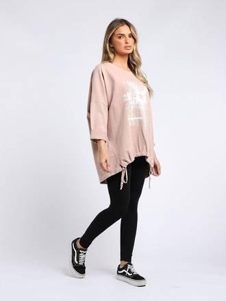 Starburst Cotton Sweater Pink