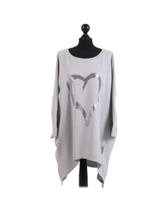 Romance Plus Size Sweater Light Grey