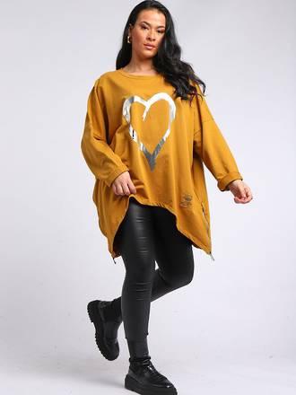 Romance Plus Size Sweater Mustard