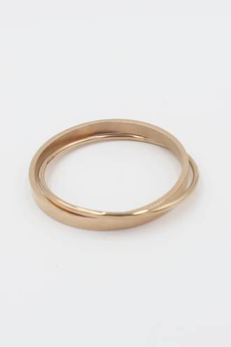 Juliette Double Rose Gold Stainless Steel Bangle