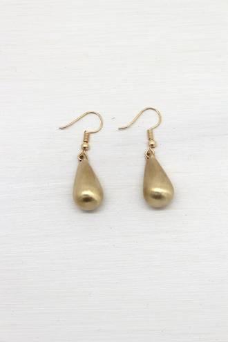 Misty Gold Drop Earrings