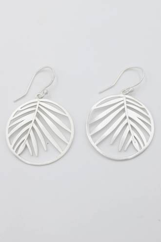 Tropical Fern Earrings Silver
