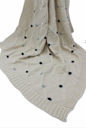Baby Boy Pompom Blanket