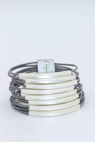 Bohemian Grey Wristband