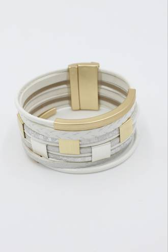 Alice White Wristband