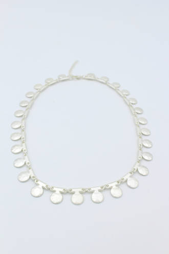 Matt Silver Vine Necklace