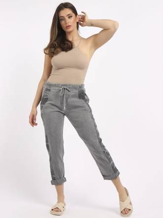 Camo Side Stripe Trousers Grey