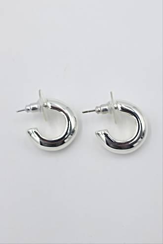 Kensington Curve Earrings Silver